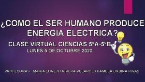 COMO EL SER HUMANO PRODUCE ENERGIA ELECTRICA CLASE