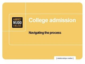 College admission Navigating the process College admission Is