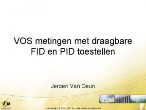 VOS metingen met draagbare FID en PID toestellen