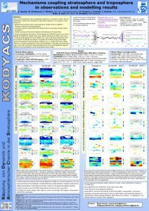 Mechanisms coupling stratosphere and troposphere in observations and
