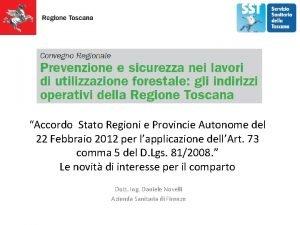 Accordo Stato Regioni e Provincie Autonome del 22