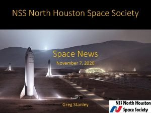 NSS North Houston Space Society Space News November