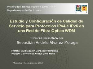 Universidad Tcnica Federico Santa Mara Departamento de Electrnica