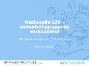Nationella LIV samarbetsgruppens verksamhet Bttre tjnster fr unga