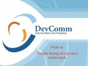Phn 4 Truyn thng v ci cch chnh