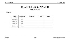 October 2020 doc 201140 r 2 CSAe CSA