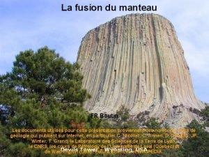 La fusion du manteau FR Boutin Les documents