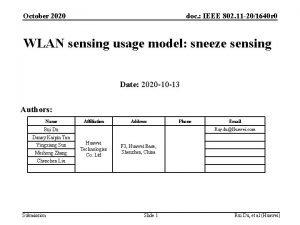 October 2020 doc IEEE 802 11 201640 r
