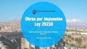 Obras por Impuestos Ley 29230 Superintendencia de Relaciones