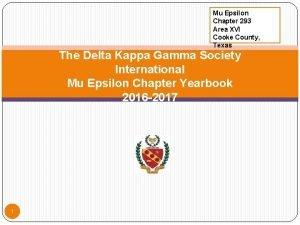Mu Epsilon Chapter 293 Area XVI Cooke County