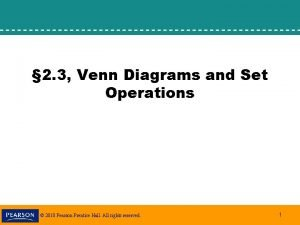 2 3 Venn Diagrams and Set Operations 2010