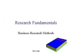 Research Fundamentals Business Research Methods Methods of Knowing