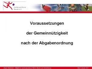 Voraussetzungen der Gemeinntzigkeit nach der Abgabenordnung Edgar Oberlnder