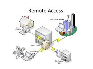 Remote Access What is the Remote Access Domain