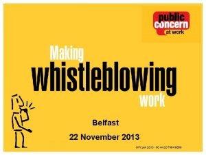 Gov Conf 13 Belfast 22 November 2013 PCa