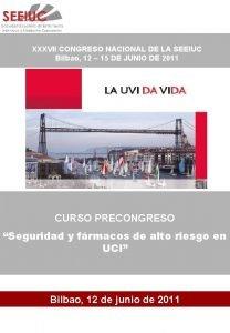XXXVII CONGRESO NACIONAL DE LA SEEIUC Bilbao 12