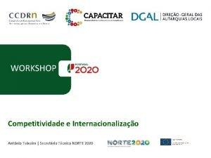 WORKSHOP Competitividade e Internacionalizao Antnio Teixeira Secretrio Tcnico