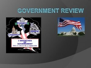 GOVERNMENT REVIEW Government Review The First American Constitution