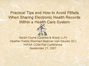 Practical Tips and How to Avoid Pitfalls When