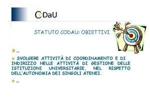 STATUTO CODAU OBIETTIVI SVOLGERE ATTIVIT DI COORDINAMENTO E
