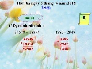 Th ba ngy 3 thng 4 nm 2018