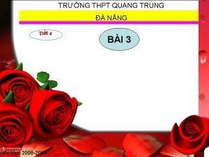TRNG THPT QUANG TRUNG NNG Tit 4 Nm