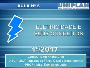 AULA N 6 ELETRICIDADE E SEUS CONCEITOS 12017
