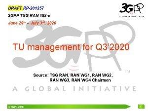 DRAFT RP201257 3 GPP TSG RAN 88 e