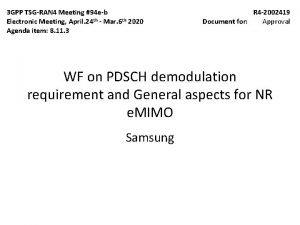 3 GPP TSGRAN 4 Meeting 94 eb Electronic