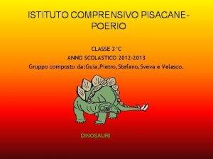 ISTITUTO COMPRENSIVO PISACANEPOERIO CLASSE 3C ANNO SCOLASTICO 2012