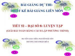 BI GING D THI THIT K BI GING