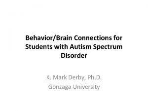 BehaviorBrain Connections for Students with Autism Spectrum Disorder