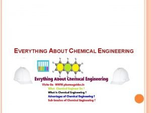 EVERYTHING ABOUT CHEMICAL ENGINEERING WHAT IS CHEMICAL ENGINEERING