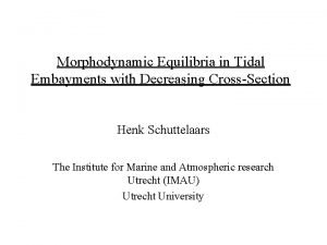 Morphodynamic Equilibria in Tidal Embayments with Decreasing CrossSection