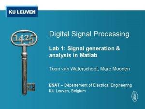 Digital Signal Processing Lab 1 Signal generation analysis