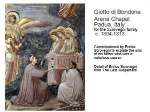 Giotto di Bondone Arena Chapel Padua Italy for
