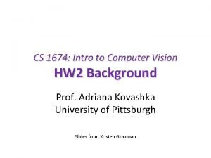 CS 1674 Intro to Computer Vision HW 2
