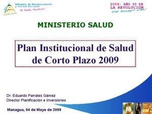 MINISTERIO SALUD Plan Institucional de Salud de Corto