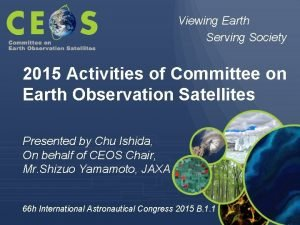 Viewing Earth Serving Society 2015 Activities of Committee