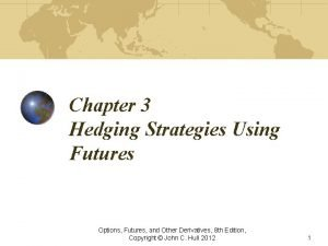 Chapter 3 Hedging Strategies Using Futures Options Futures