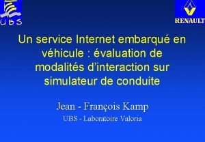 Un service Internet embarqu en vhicule valuation de