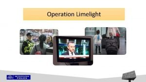 Operation Limelight Context Multiagency Safeguarding operation at the