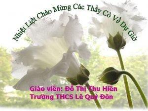 Gio vin Th Thu Hin Trng THCS L