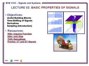 ECE 3163 8443Signals Pattern and Recognition ECE Systems