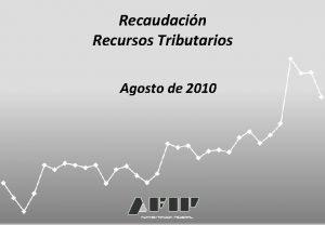 Recaudacin Recursos Tributarios Agosto de 2010 Recaudacin Agosto