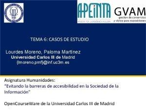 TEMA 6 CASOS DE ESTUDIO Lourdes Moreno Paloma