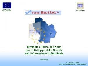 UNIONE EUROPEA DG XVI ART 10 FESR REGIONE
