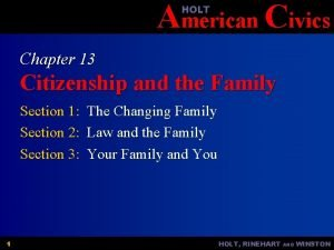 American Civics HOLT Chapter 13 Citizenship and the