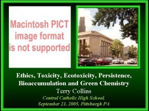 Ethics Toxicity Ecotoxicity Persistence Bioaccumulation and Green Chemistry