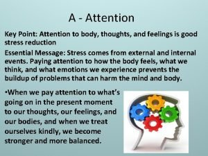 A Attention Key Point Attention to body thoughts